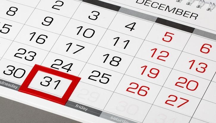 Лист календаря с отмеченным числом