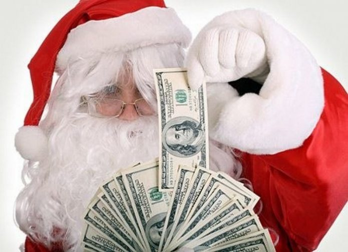 Дед Мороз с деньгами