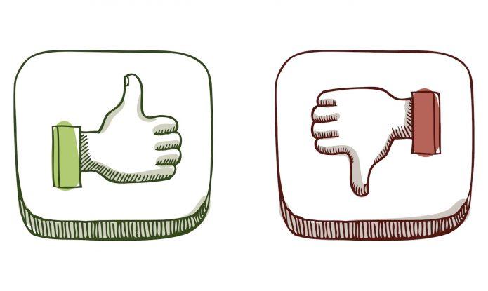 Палец вверх и палец вниз