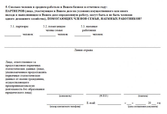 Форма 1-ИП, 3 страница