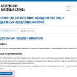 Онлайн-регистрация ИП на сайте ФНС, шаг 3
