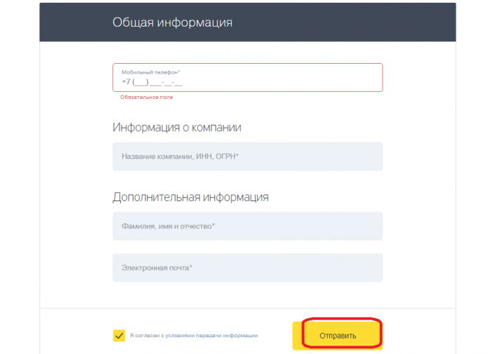 Форма заявки на открытие счета ИП в Тинькофф-банке