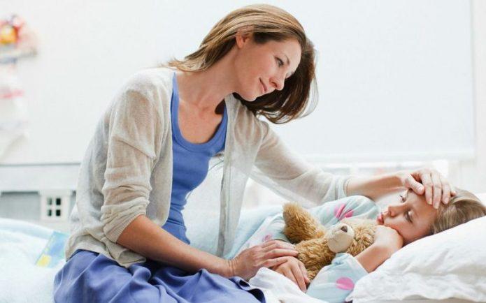 Женщина с больным ребёнком