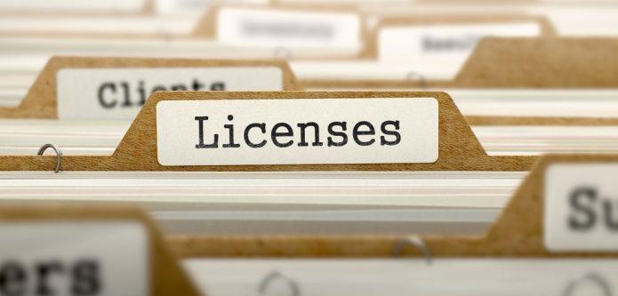 Папка с надписью «Лицензирование»
