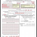 Шаблон заполнения декларации ЕНВД, страница 1
