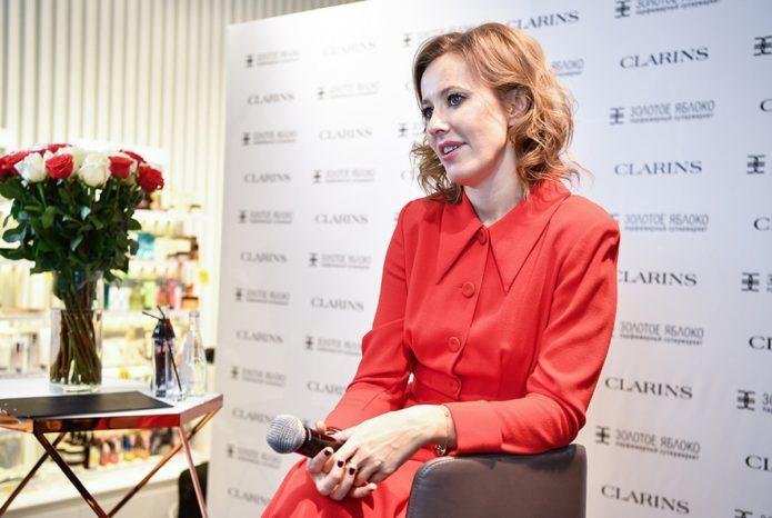 Ксения Собчак даёт интервью
