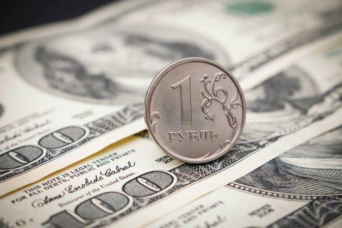 Доллары и 1 рубль