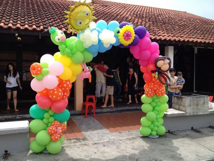 Композиция из шаров на детский праздник